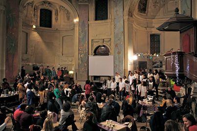 Café éphémère de Noël 2013 au Temple du Marais