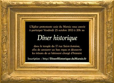 Image invitation au dîner historique